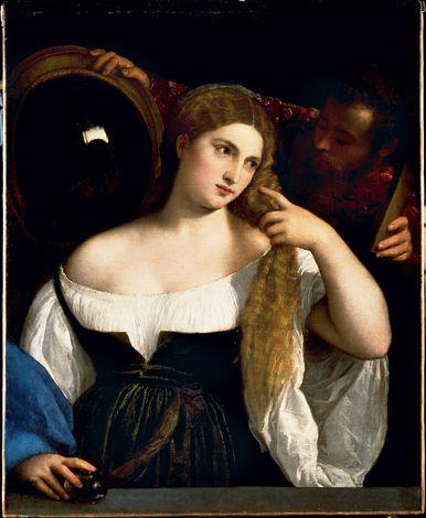 Tiziano in mostra a milano con la sua donna allo specchio la mia ombra - Valeria allo specchio ...